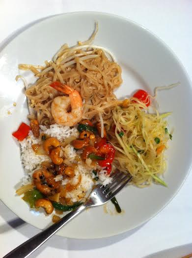 2Adaptive team-made Thai dinner